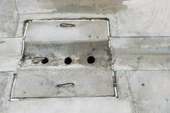 Einsteigeloch auf Straße Lizenzfreies Stockfoto
