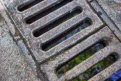 Einsteigeloch-Straßen-Abdeckung Stockbilder