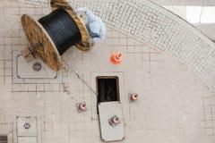 Einsteigelochreinigungskanalrohrsystem Lizenzfreies Stockbild