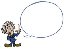 Albert Einstein with an empty dialogue bubble vector illustration