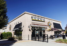 Einstein Bros. Bagel Restaurant. Einstein Bros. Bagels is a bagel and coffee chain in the United States with approximately 773 restaurants nationwide Stock Photography