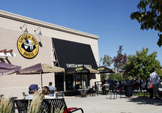 Einstein Bros. Bagel Restaurant. Einstein Bros. Bagels is a bagel and coffee chain in the United States with approximately 773 restaurants nationwide Royalty Free Stock Image