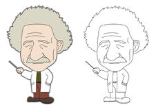Einstein Cartoon. Albert Einstein Cartoon Vector Art royalty free illustration