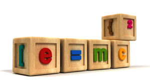 Einstein dzieciaka sześciany ilustracja wektor