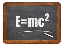 Einstein equation on blackboard Royalty Free Stock Photos