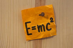 Einstein equation nailed royalty free stock images