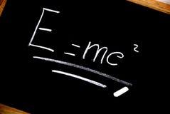 Einstein-Formel Stockbild