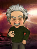 Einstein naukowiec Wskazuje nauki ilustrację ilustracji