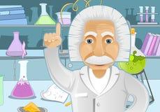 Einstein Pomysł ilustracja wektor