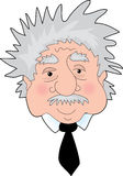 Einstein Portrait. A Funny Portrait of Albert Einstein's face Royalty Free Stock Images