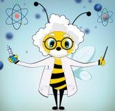 Einstein pszczoła royalty ilustracja