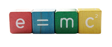 Einstein's formula Stock Images