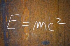 Einstein's formula Royalty Free Stock Images