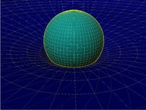 Einstein's Wire Net General Theory Of Relativity Structure Vector 02 Stock Image