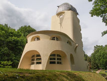 Einstein Turm in Potsdam. POTSDAM, GERMANY - MAY 10, 2014: The Einstein Turm astrophysical observatory was designed by architect Erich Mendelsohn in 1917 for Stock Photo