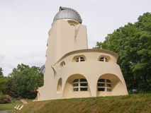 Einstein Turm in Potsdam. POTSDAM, GERMANY - MAY 10, 2014: The Einstein Turm astrophysical observatory was designed by architect Erich Mendelsohn in 1917 for Royalty Free Stock Photos