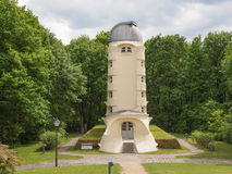 Einstein Turm in Potsdam. POTSDAM, GERMANY - MAY 10, 2014: The Einstein Turm astrophysical observatory was designed by architect Erich Mendelsohn in 1917 for Royalty Free Stock Images