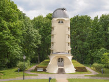 Einstein Turm in Potsdam. POTSDAM, GERMANY - MAY 10, 2014: The Einstein Turm astrophysical observatory was designed by architect Erich Mendelsohn in 1917 for Stock Photography