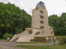 Einstein Turm in Potsdam. POTSDAM, GERMANY - MAY 10, 2014: The Einstein Turm astrophysical observatory was designed by architect Erich Mendelsohn in 1917 for Royalty Free Stock Photography