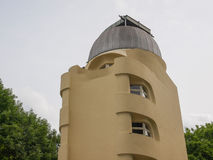 Einstein Turm in Potsdam. POTSDAM, GERMANY - MAY 10, 2014: The Einstein Turm astrophysical observatory was designed by architect Erich Mendelsohn in 1917 for Royalty Free Stock Photo
