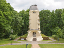 Einstein Turm in Potsdam. POTSDAM, GERMANY - MAY 10, 2014: The Einstein Turm astrophysical observatory was designed by architect Erich Mendelsohn in 1917 for Stock Photos
