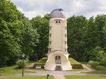 Einstein Turm in Potsdam. POTSDAM, GERMANY - MAY 10, 2014: The Einstein Turm astrophysical observatory was designed by architect Erich Mendelsohn in 1917 for Stock Image
