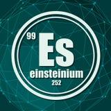 Einsteinium chemisch element stock illustratie