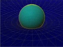 Einsteins Draht-Netz-allgemeiner Relativitätstheorie-Struktur-Vektor 02 Stockbild