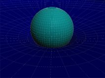 Einsteins Draht-Netz-allgemeiner Relativitätstheorie-Struktur-Vektor 03 Lizenzfreie Stockfotografie