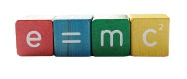Einsteins Formel stockbilder