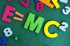 Einsteins formel E=mc2 Arkivfoto