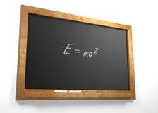 Einsteins formula Stock Image