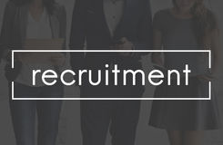 Einstellung Job Position Employment Manpower Concept Lizenzfreie Stockfotos