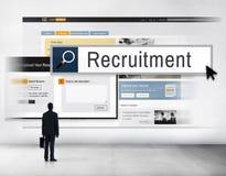 Einstellung Job Work Vacancy Search Concept lizenzfreie stockbilder