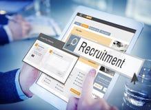 Einstellung Job Work Vacancy Search Concept lizenzfreies stockfoto