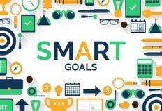 Einstellung SMART-Ziele lizenzfreie abbildung
