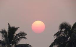 Einstellung Sun Stockfoto