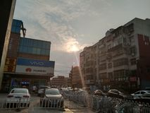 Einstellung Sun stockfotos
