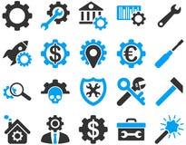Einstellungen und Werkzeug-Ikonen Lizenzfreies Stockbild