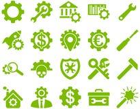 Einstellungen und Werkzeug-Ikonen Stockbilder