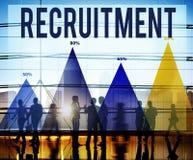 Einstellungs-Beschäftigung, die Job Career Concept einstellt Lizenzfreies Stockbild