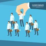Einstellungs-Handsammeln-Geschäft Person Candidate People Group Lizenzfreie Stockfotos