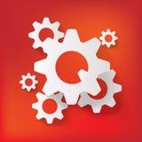Einstellungsnetzikone, flaches Design Lizenzfreies Stockbild