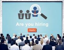 Einstellungspersonalwesen Job Career Occupation Concept Lizenzfreies Stockbild