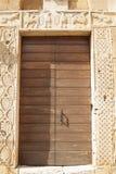 Einstiegstür Abtei von Sant-` Antimo Castelnuovo Abate Montalcino Siena Toskana Italien Lizenzfreies Stockfoto