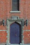 Einstiegstür der Kirche Stockfotografie