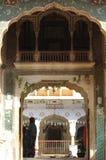 Einstiegstür für Ramgopalji-Tempel Stockfotos