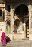 Einstiegstür für Ramgopalji-Tempel oder Affe-Tempel, Stockfotos