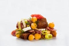 Einteiliger Salat Stockfoto