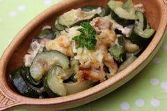 Eintopfgericht der Zucchini Lizenzfreie Stockfotos